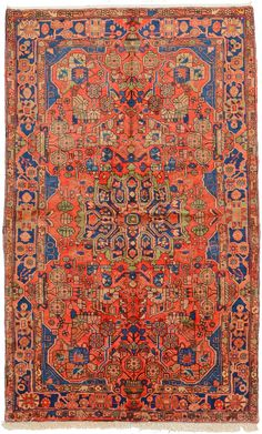 Red 5' 0 x 8' 1 Nahavand Rug | Persian Rugs | eSaleRugs