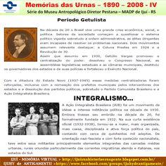 IJUÍ - RS - Memória Virtual: Memórias das Urnas - 1890 - 2008 - Série do Museu…