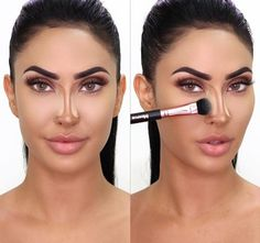 "360 nose contour collection - Makeup Techniques Nose , 360 nose contour collection Description Pro Tips Video MORPHE X BRITTANY BEAR ""It's such an honor to collaborate with Morphe. You guys don't understan. Makeup Contouring, Contouring And Highlighting, Makeup Tricks, Makeup Brushes, Makeup Ideas, Makeup Tutorials, Airbrush Makeup, Makeup Kit, 1980 Makeup"