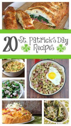 20 St. Patrick's Day Recipes from www.yourhomebasedmom.com (scheduled via http://www.tailwindapp.com?utm_source=pinterest&utm_medium=twpin&utm_content=post513659&utm_campaign=scheduler_attribution)