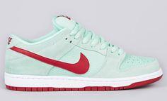 Nike SB Dunk Low Pro - Medium Mint / Gym Red  (2)
