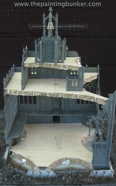 Realm of Battle Cityscape Shattered Plaza Cathedral – WIP Warhammer Terrain, 40k Terrain, Game Terrain, Wargaming Terrain, Warhammer Imperial Guard, Ruined City, Tabletop, Felder, Warhammer 40000