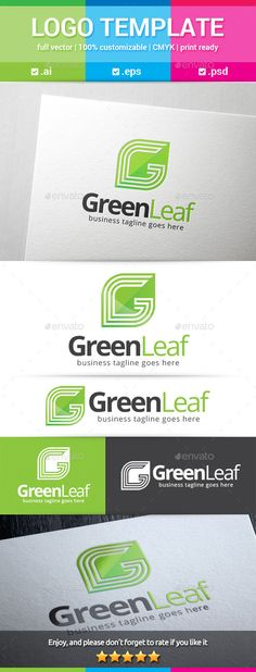 Green Leaf Letter G Logo — Photoshop PSD #green #nature • Available here → https://graphicriver.net/item/green-leaf-letter-g-logo/12671251?ref=pxcr