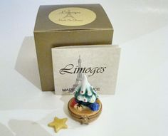 Limoges Box - Mini Christmas Tree with Star
