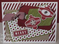 Christmas Collectibles - A Banner Christmas - christmas cards - stampin up - Stampin' Up! - handmade christmas cards - Sarah Fleming