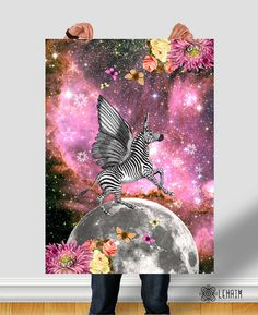 Mythology Unicorn poster Instant download Universe by LehaimDesign