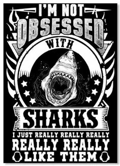 I love sharks! And I'm obsessed with them. Funny Shark Pictures, Shark Photos, Save The Sharks, Cool Sharks, Whale Sharks, Scuba Diving Quotes, Shark Jaws, Megalodon, Shark Party