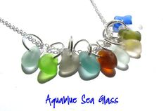 Drilled English  Sea Glass Charms 10 Tiny by aquablueseaglass, $17.99