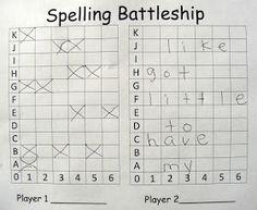 E is for Explore!: Spelling Battleship