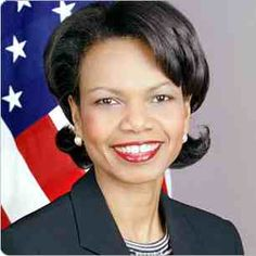 Condoleezza Rice.  An American political scientist and diplomat.  She served as the 66th United States Secretary of State, and was the first female African-American secretary of state.