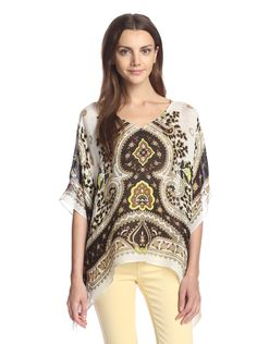 Theodora & Callum Women's Hvar Scarf Top at MYHABIT