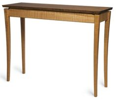 Download the free plan for this curved-leg hall table by Don Kondra. - CLICK TO ENLARGE