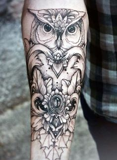 Owl Tattoo Ideas For Men Forearm