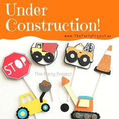 Build up thecoolest party with our exclusive handmade Construction party supplies! Make anunforgettable party zone, whether you are planning a Construction birthday or baby shower our themed party decorations with unique designs will make your special celebration stand out!  With our selection of Construction party supplies, every guest becomes part of the crew, and your littlebuilder will have a blast at theconstruction party! - www.thepartyproject.us