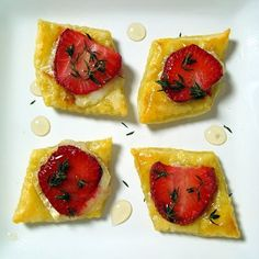 Strawberry Brie Tartlets | A Spicy Perspective