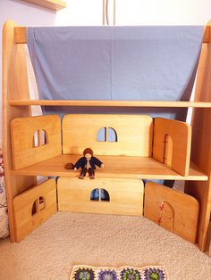 Grimms Foldable Dollhouse Frames in Our Playstand