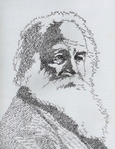 Walt Whitman as Leaves of Grass