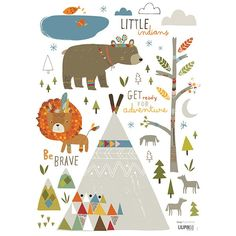 Stickers enfant Petit indien- Lilipinso - Ma Chambramoi