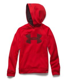 Look what I found on #zulily! Red & Black Logo Storm Armour® Fleece Hoodie - Boys by Under Armour® #zulilyfinds