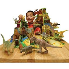 CP Toys Pretend Play Dinosaur Park w/ 12 Vinyl Dinosaurs and Wooden Environment Constructive Playthings http://www.amazon.com/dp/B002JPAUHM/ref=cm_sw_r_pi_dp_UO08vb18AZEXT