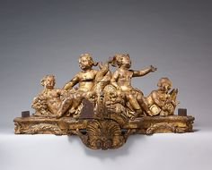 Jules Degoullons (French, ca. 1671–1737). Stretcher from a console table from the Queen's bed chamber at Versailles, ca. 1730. The Metropolitan Museum of Art, New York. Gift of J. Pierpont Morgan, 1906 (07.225.192a) #paris
