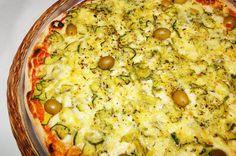 Pizza de abobrinha crocante