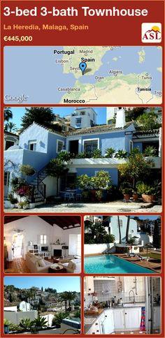3-bed 3-bath Townhouse in La Heredia, Malaga, Spain ►€445,000 #PropertyForSaleInSpain