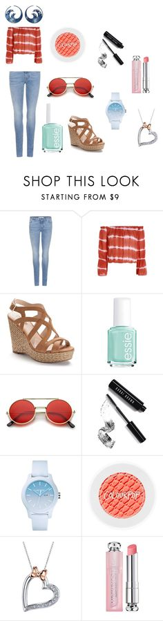 """""""Hello Summer Break"""" by noodle426 ❤ liked on Polyvore featuring Givenchy, Jennifer Lopez, Essie, Bobbi Brown Cosmetics, Lacoste, Disney and Christian Dior"""