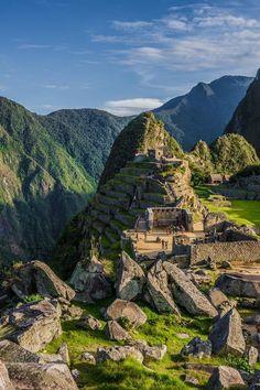 Impresionante el antiguo poblado de Machu Picchu en #Peru.