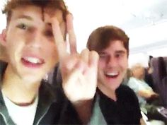 Troye Sivan and Connor Franta on a flight (pt.2)