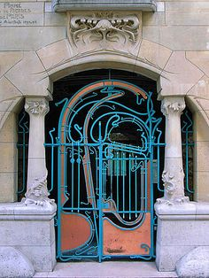 Art nouveau gate, Castel Beranger, Paris