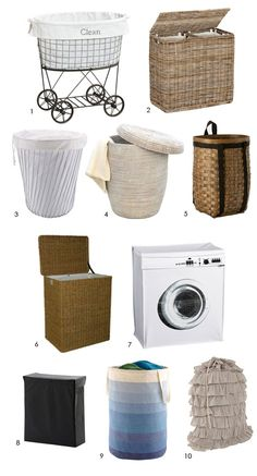 High & Low: Laundry Hampers  9. The fold-up laundry bin in colored ombre, Container Store $19.99