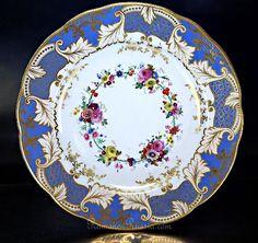 Antique Russian Porcelain Floral Plate, Imperial Factory, Nicholas Iromanovrussia.com