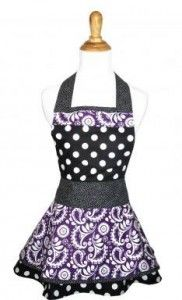 Review & Giveaway – Paisley Floral Polka Dot Kitchen Apron by Lovely Aprons