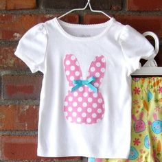 Hey, I found this really awesome Etsy listing at https://www.etsy.com/listing/94754311/easter-bunny-appliqued-shirt
