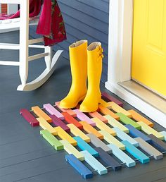 Colorful Wood Mat