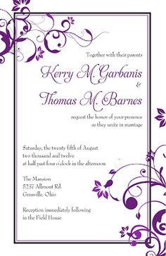 Free Printable Blank Invitations Templates  Wedding Invite