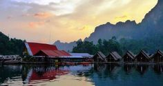 Sunset at Chieow Laan Lake, Khao Sok National Park, Thailand