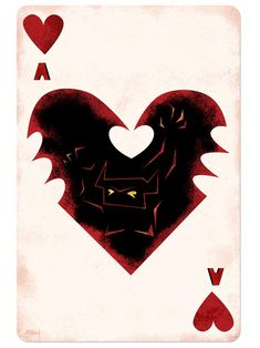Disney Playing Cards Ace of Hearts