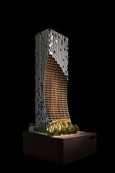Con un volumen 'excavado', Kengo Kuma diseña su primer rascacielos en América del Norte,Cortesía de v2com