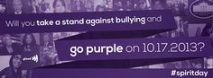 Take a stand against bullying. Support LGBT youth and change your profile pics purple: http://glaad.org/spiritday