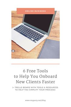 6 Free Tools to Help You Onboard Clients Faster | Learn how to simplify your onboarding process using free tools like Trello, Bonsai, Zapier to keep you stress-free and impress clients. msguery.net @msguery | Photo credit: CreateHer Stock
