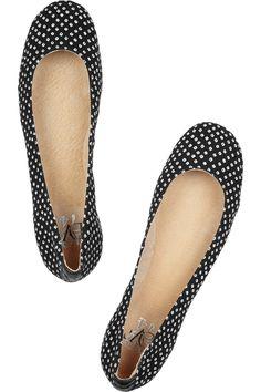 Cute polka dot canvas ballet flats by Diane von Furstenberg