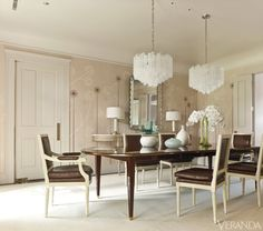 The dining room's tr