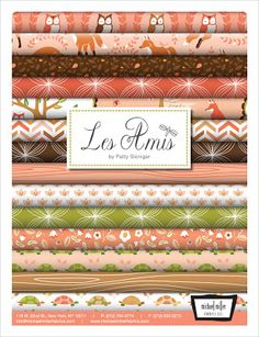 Les Amis Fabric Collection by Patty Sloniger for Michael Miller - Dawn colorway