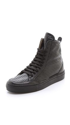 MM6 Maison Martin Margiela Perforated High Top Sneakers