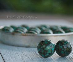 14 mm Beads 2 Mosaic Turquoise Beads Beautiful by FreshBeadsCo, $2.99