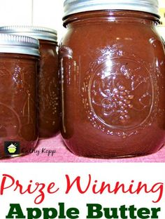 Prize Winning Apple Butter -Easy Crock Pot Recipe. Goes great with sweet or savory dishes. You choose!