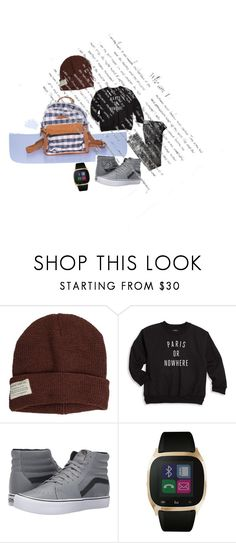 """""""Handmade Mini backpack"""" by kaayalifestyle on Polyvore featuring Krochet Kids, Knowlita, Vans, iTouch, men's fashion and menswear"""
