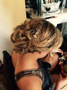 Formal hair updo